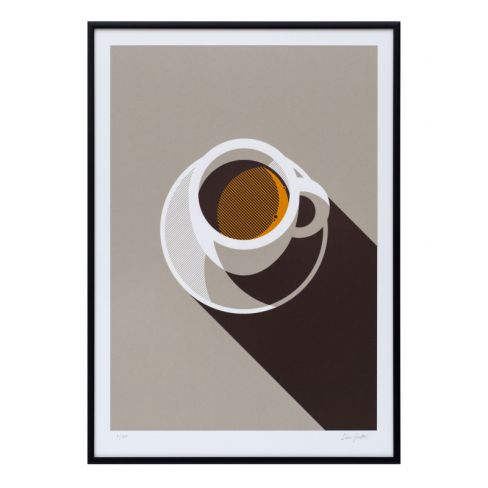 Espresso Screen Print by The Lost Fox