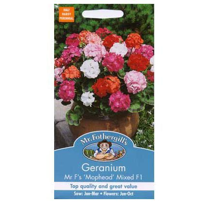 Geranium Mr Fs Mophead Selection Mixed F1 Seeds