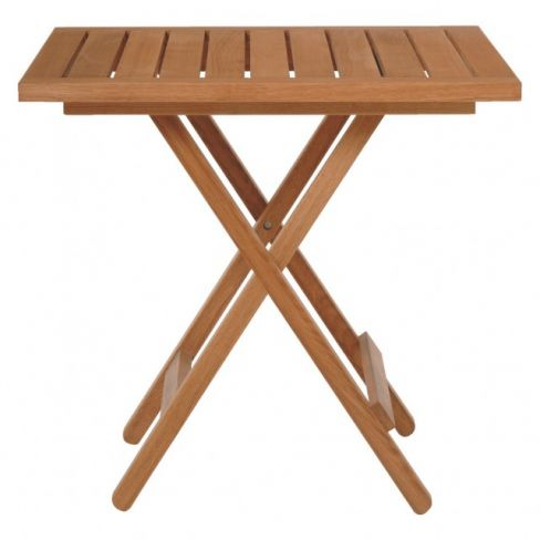 Zeno Oak Folding Garden Table