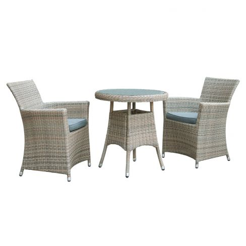OSeasons Eden Rattan Two Seater Bistro Dining Set