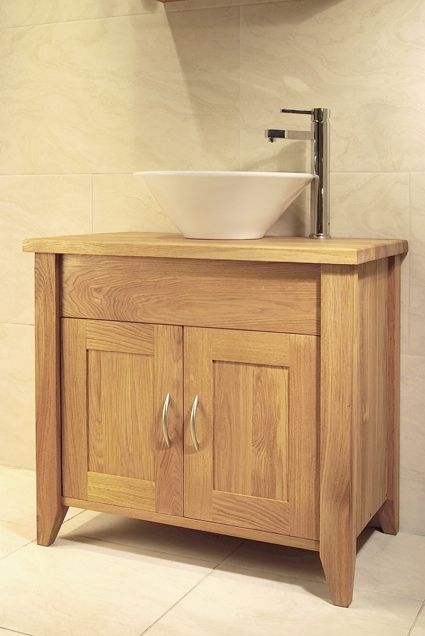 Oak Bathroom Single Washstand