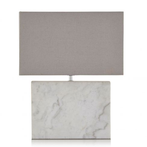 Marble Table Lamp With Cotton Shade