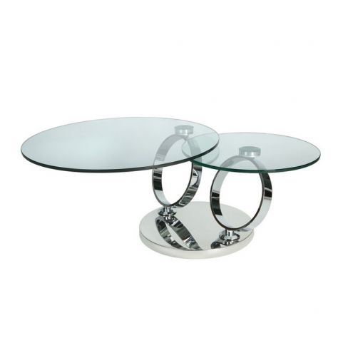 Alnwick Twin Round Glass Coffee Table