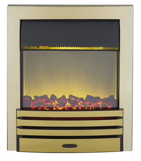 Adam Eclipse Electric Fire in Brass