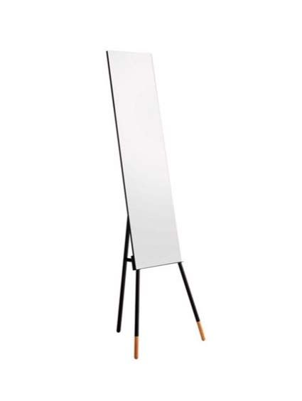 Leni Free Standing Full Length Mirror in Black