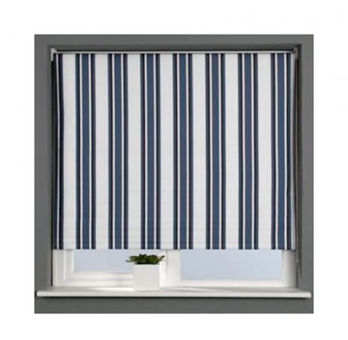 Grey Stripe Blackout Roller Blind