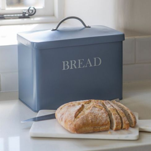 Bread Bin in Dorset Blue