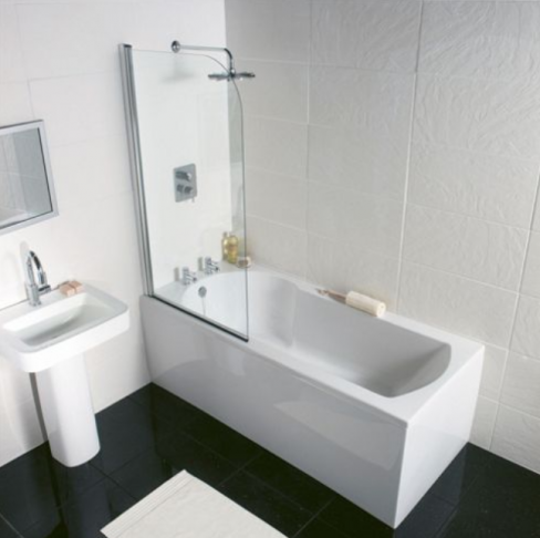 Buttermere Straight-edged Shower Bath