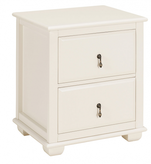 Clara White Bedside Table