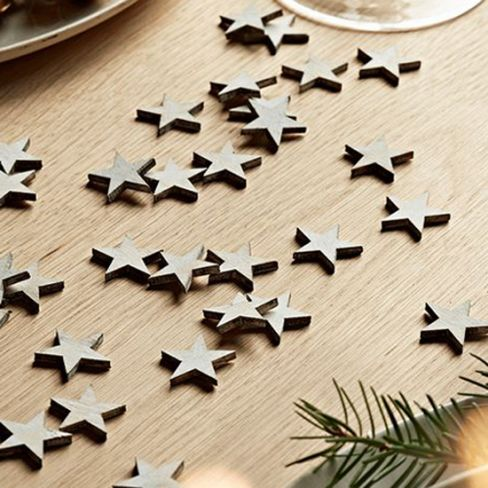 Wooden Star Table Scatters