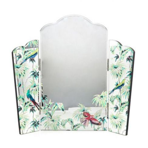 Butterfly Home Jungle Bird Print Dressing Table Mirror