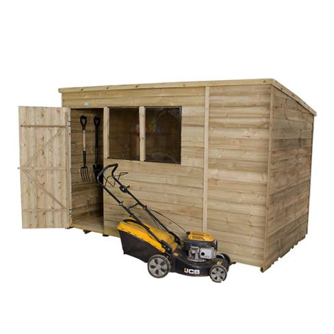 Forest Single Door Pent Roof Shed