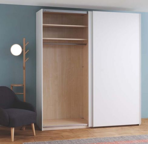 Kripton Matt White 2 Door Sliding Wardrobe