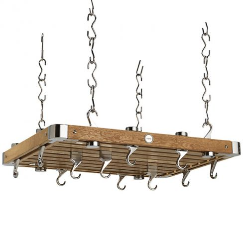 Hahn Premium Medium Rectangular Ceiling Rack in Oak