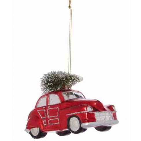 Linea Red Beetle Car With Tree Decoration