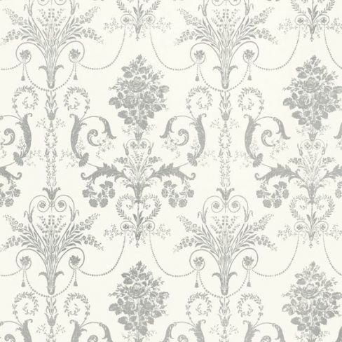 Josette Glitter Wallpaper in Silver