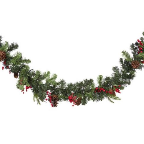 Holly and Berry Lit Garland