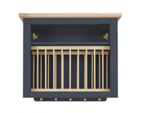 Dorset Charcoal Wall Plate Rack