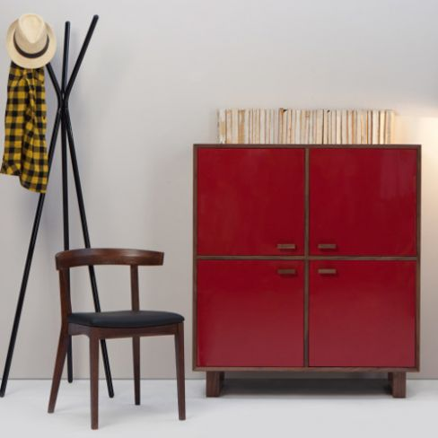 Henge Hallway Storage Unit in Red