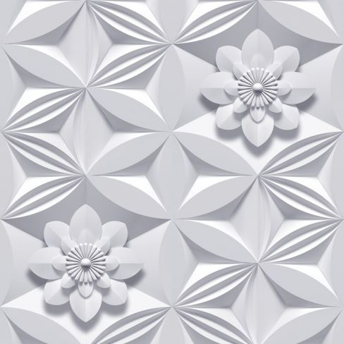 Marcel Wanders Wall Flower Grey Wallpaper