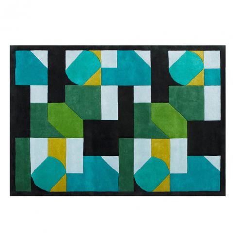 Merida Modern Rug in Green