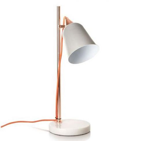 Grey Table Lamp With Marble Base