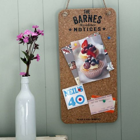 Delightful Living Personalised Cork Noticeboard