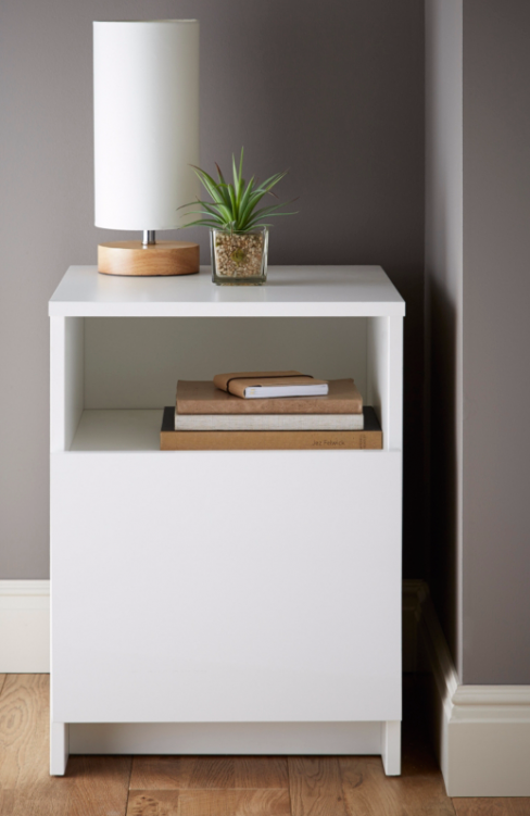 Piccadilly White Bedside Table