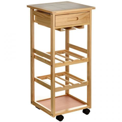 Premier Housewares Storage Kitchen Trolley