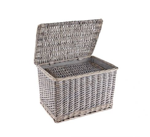Grey Willow Lidded Baskets