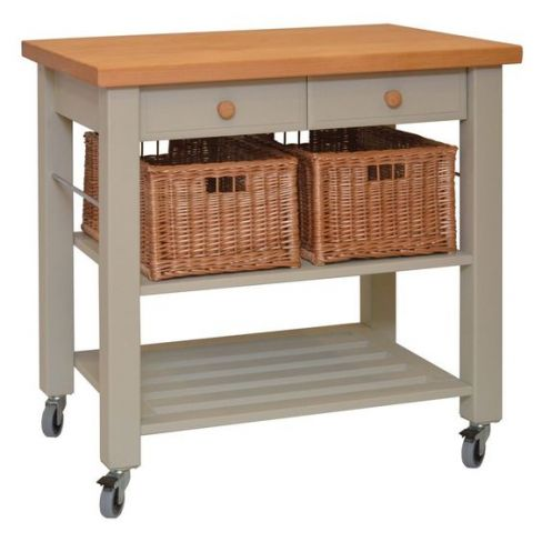 Eddingtons Lambourn Beech Wooden Kitchen Trolley