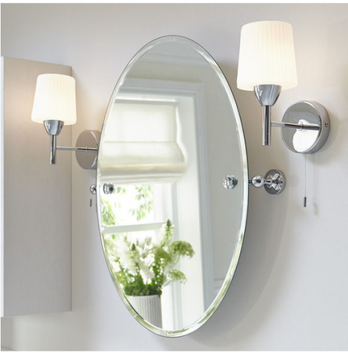 Savoy Tilting Oval Mirror