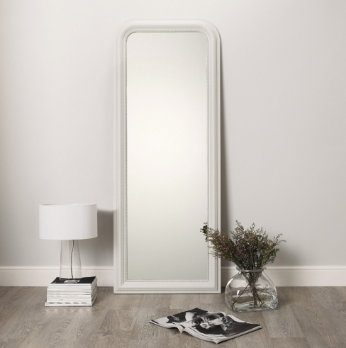 Madison Full Length Mirror in White