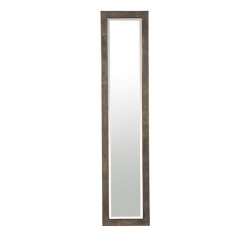 Faux Shagreen Full Length Mirror in Brown
