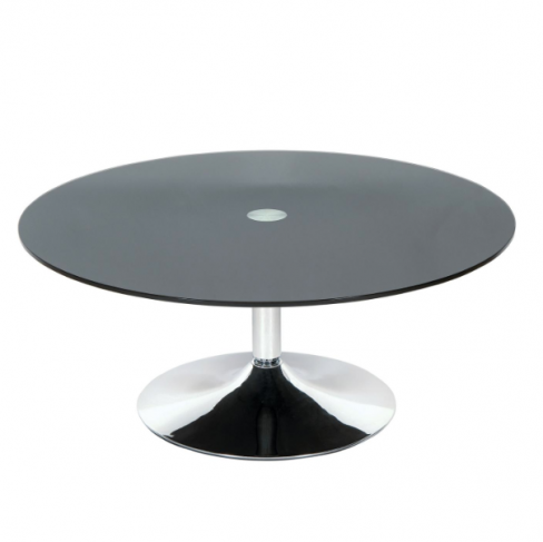 Roma Glass and Chrome Round Coffee Table