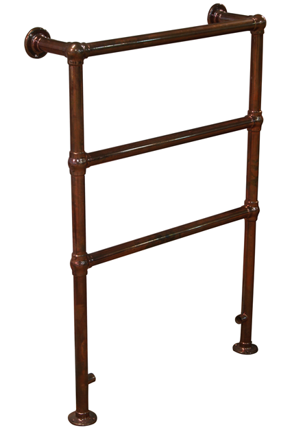 Beckingham Heated Towel Rail in Copper Finish