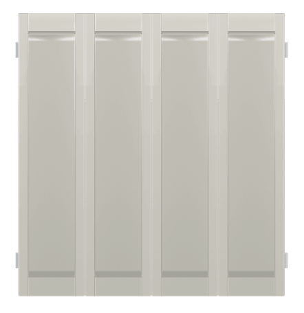 Classic Poplar Full Solid Raised Shutters