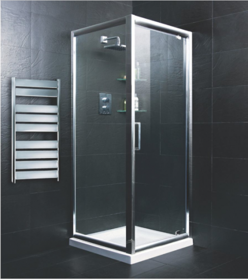 Moretti Square Shower Enclosure in Silver