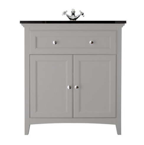 Savoy Gun Metal Grey Basin Unit with Granite Top and Basin