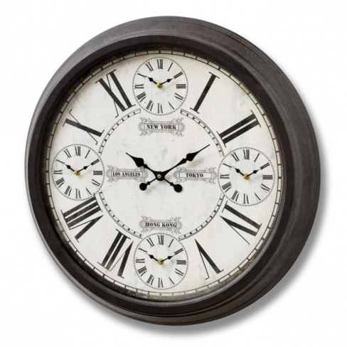 Hill Interiors World Times Wall Clock
