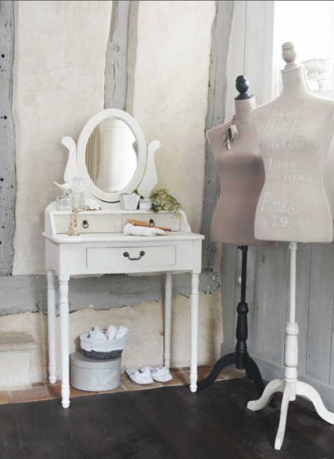Josephine Wood Dressing Table in White