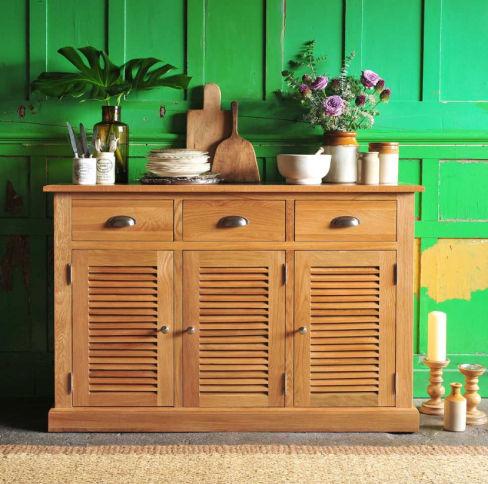 Hamilton Oak 3 Door Sideboard