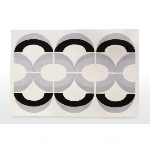 Loop Modern Rug in Monochrome Mix