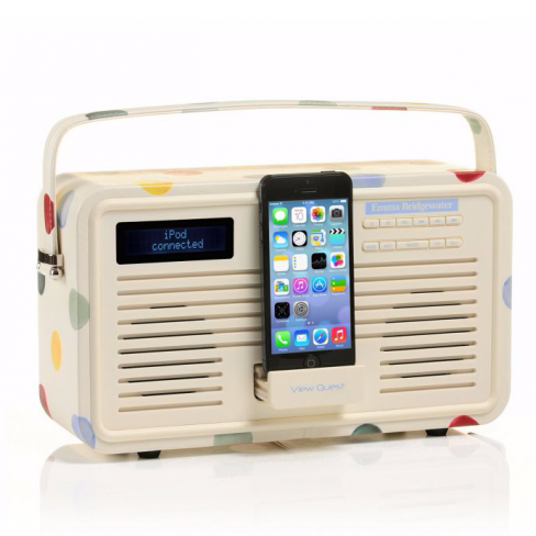 Emma Bridgewater Retro 8 Pin Radio Polka Dot