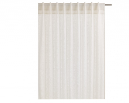 Pair of White Linen Curtains