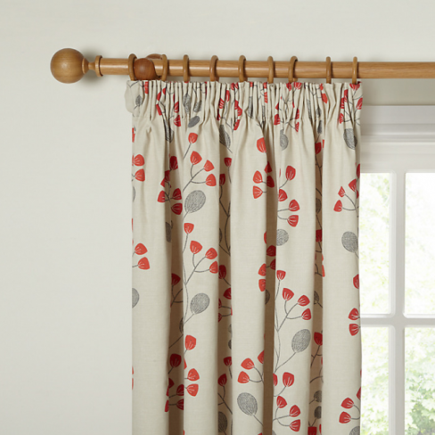 Seedlings Lined Pencil Pleat Curtains