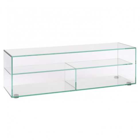 Gem Large Clear Glass TV Stand