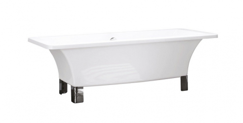 Modern Freestanding Bath with Square Feet