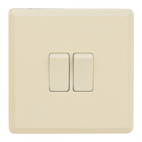Laura Ashley 10A 2-way Double Light Switch