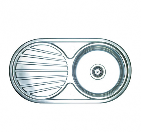 Single Round Bowl Stainless-steel Kitchen Sink